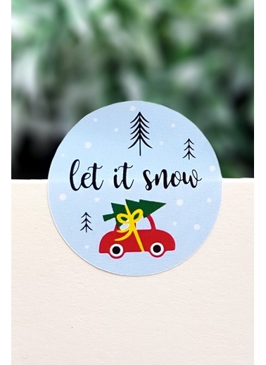 Funbou Sticker, Let İt Snow / 2 Sayfa Renkli